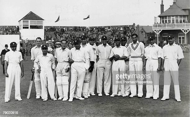 Cricket A picture of the All India Cricket side which toured England for a Test Series LR VM Merchant SM Hadi Maharaj Sir Vijaya Vizianagram Dilawar...
