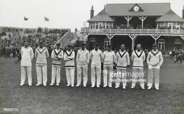 Cricket. 1927. A picture of the MCC Cricket Team to tour ...