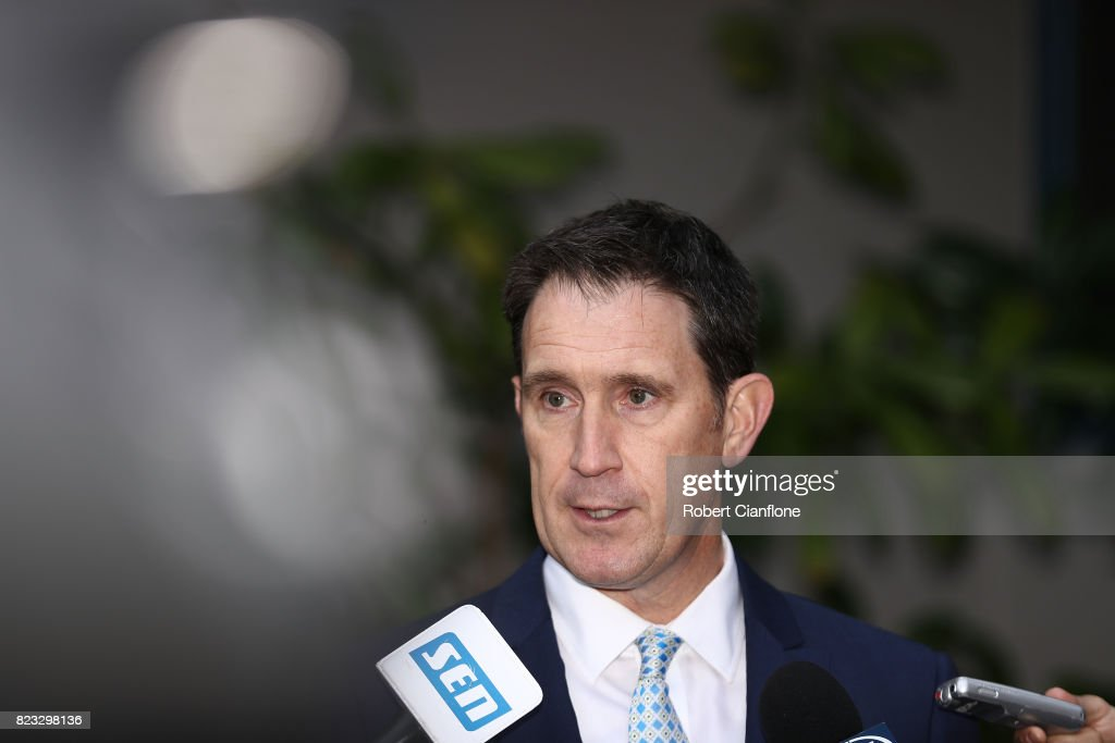 James Sutherland Holds Press Conference On MOU With Australian Cricketers' Association