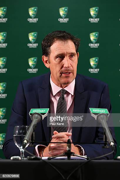 Cricket Australia CEO James Sutherland addresses the media to discuss the recommendations from the NSW Coronial Inquest into Philip Hughes before the...