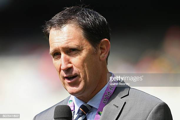 Cricket Australia CEO James Sutherland speaks to the media during day two of the Second Test match between Australia and the West Indies at Melbourne...
