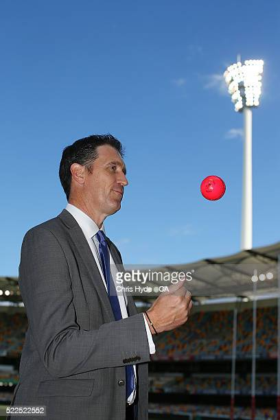Cricket Australia CEO James Sutherland poses during a Cricket Australia media opportunity at the Gabba on April 20 2016 in Brisbane Australia