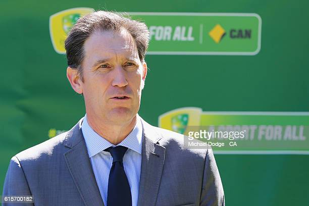 Cricket Australia CEO James Sutherland speaks during the commemoration of the 1866 Boxing Day Test at the Melbourne Cricket Ground on October 20 2016...