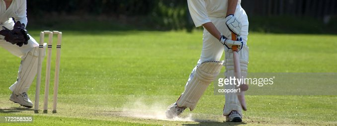 Cricket ball being hit