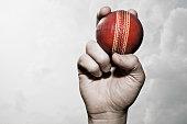 Balle de Cricket dans la main