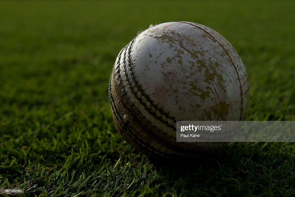 A cricket ball is pictured on the boundary during the Ryobi One Day Cup match between the Western Australia Warriors and the Tasmanian Tigers at the WACA on February 19, 2013 in Perth, Australia.