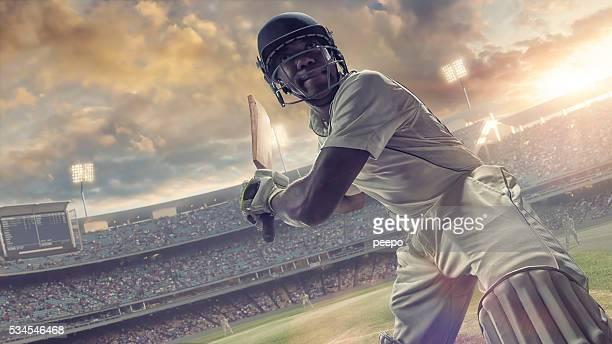Cricket Schlagmann zu treffen Ball-Cricket-Spiel im Freien