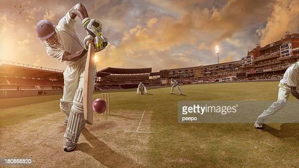 Cricket Schlagmann dabei, Streik Ball