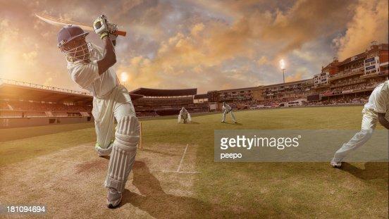 Cricket Batsman Hits A Six