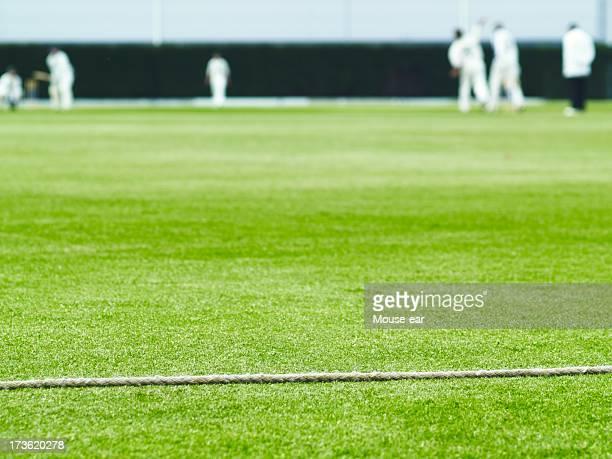 Cuerda y partido de críquet límite de acción