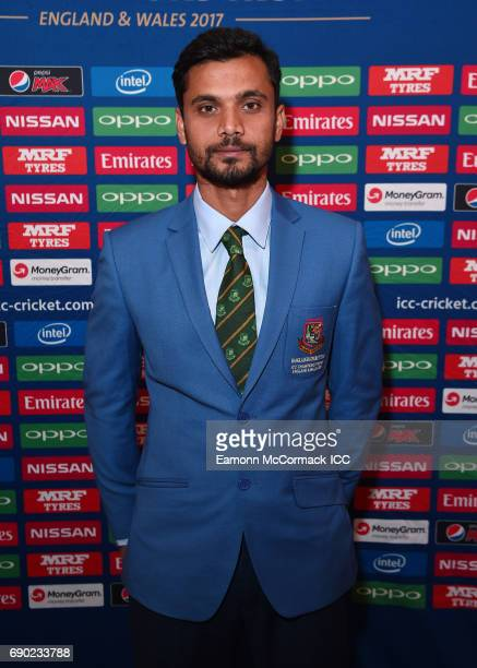 Cricket Captain of Bangladesh Mashrafe Mortaza attends the ICC Champions Dinner at Lancaster House on May 30 2017 in London England