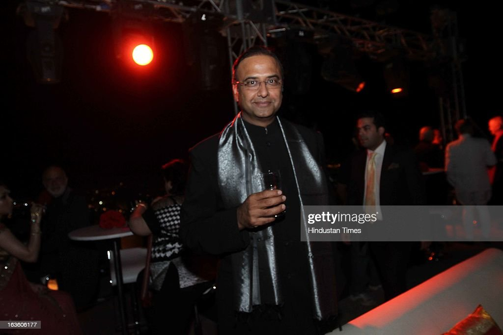 Cricket commentator Charu Sharma at the party hosted by his Highness Gaj Singh II at the Mehrangarh Fort on March 8, 2013 in Jodhpur, India.