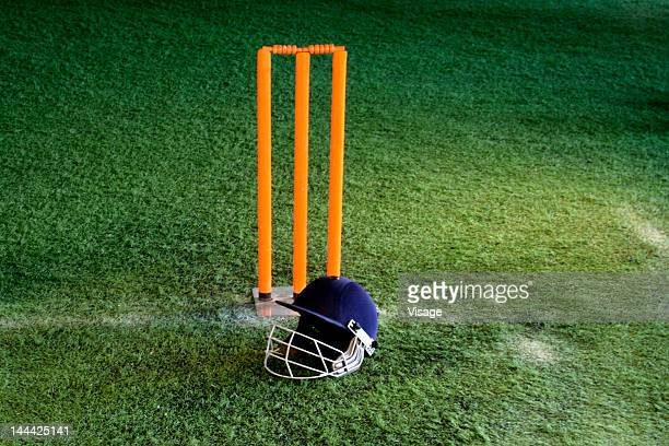 Cricket equipment, a close-up shot