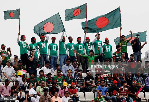 Cricket fans of Bangladesh enjoy the atmosphere during the ICC World Cup Cricket Group B match between Bangladesh and South Africa at ShereeBangla...
