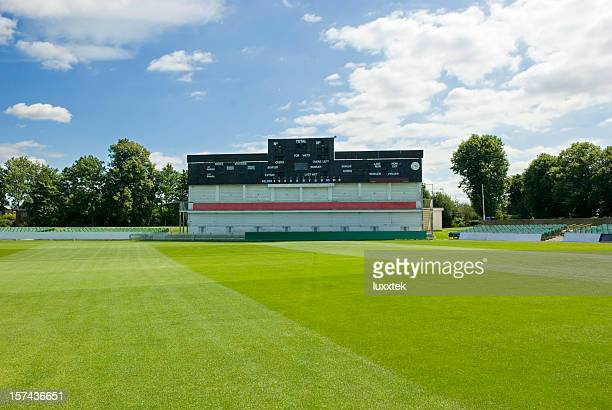 Cricket field stadion with score board