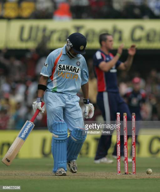 Cricket Gautam Gambhir got out during India vs England 2nd ODI match at Indore on Monday