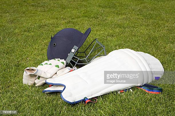 Cricket helmet pads and gloves