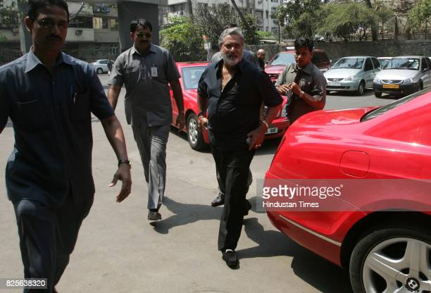 Cricket Indian Premier League Vijay Mallya arrives to attend the second auction of the players held at BCCI headquarters in Mumbai on Tuesday