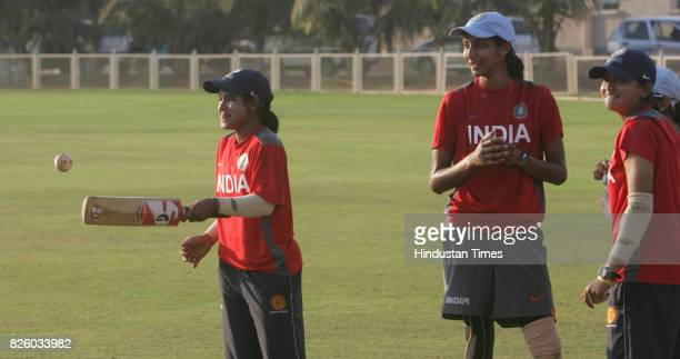 Cricket Indian Women Cricket Team India Women cricket team members practices at MCA ground at BKC on Monday