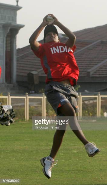 Cricket Indian Women Cricket Team Poonam Raut Mumbai girl who is newly selected in India Women cricket team practices with the team during the teams...