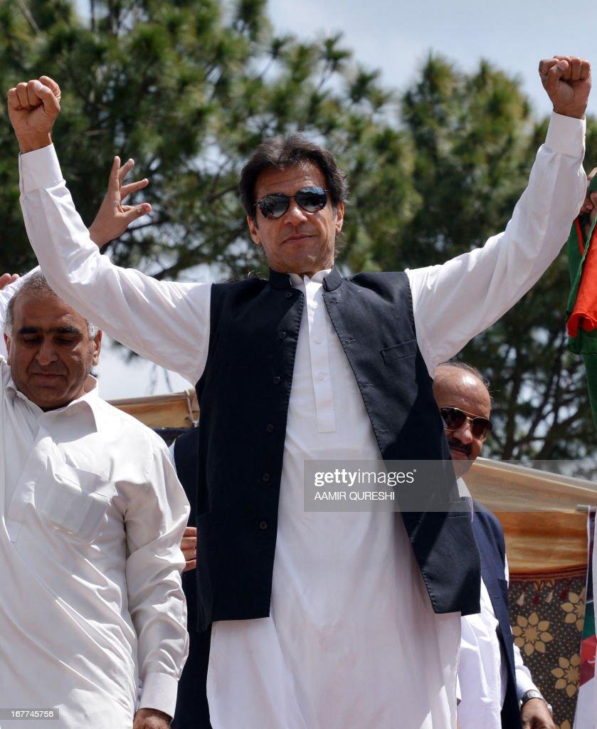 Imran Khan Leads Pakistan Terhrik-e-Insaf Party General Election Campaign