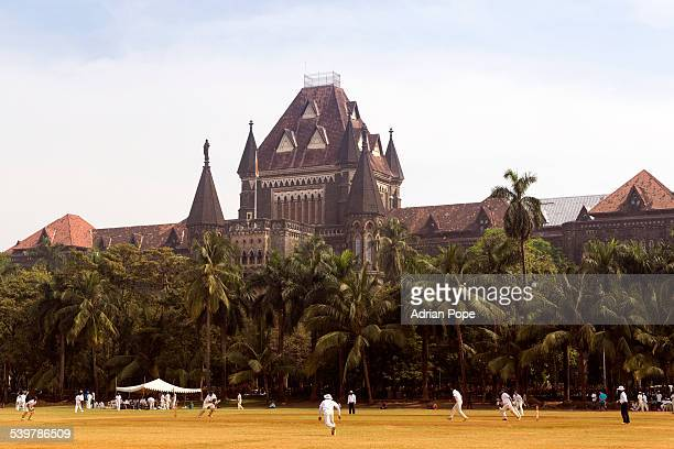 Cricket match in Oval Maidan, Mumbai