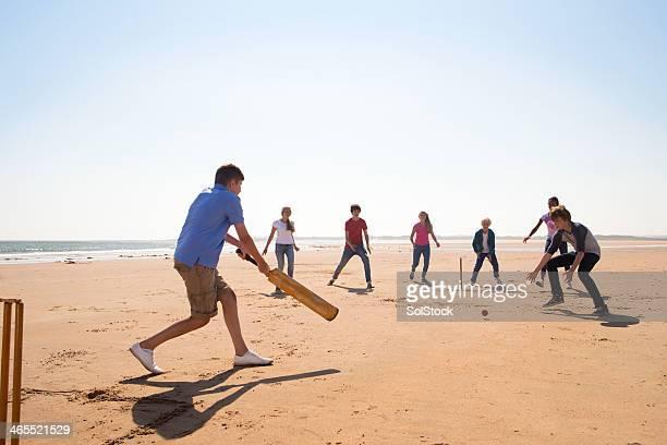 Cricket en la playa