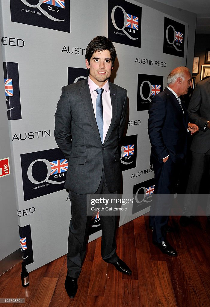 Cricket player Alastair Cook attends the Austin Reed Q Club Launch at the Austin Reed Regent Street store on October 19, 2010 in London, England.