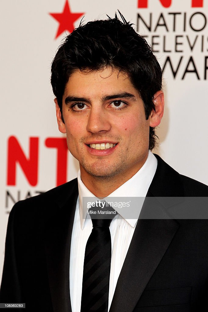 Cricket player <a gi-track='captionPersonalityLinkClicked' href=/galleries/search?phrase=Alastair+Cook+-+Cricket+Player&family=editorial&specificpeople=571475 ng-click='$event.stopPropagation()'>Alastair Cook</a> poses in the press room at the The National Television Awards at the O2 Arena on January 26, 2011 in London, England.