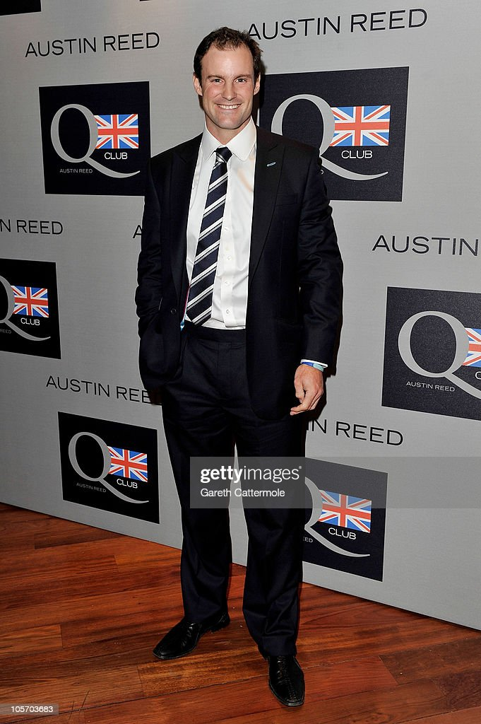 Cricket player Andrew Strauss attends the Austin Reed Q Club Launch at the Austin Reed Regent Street store on October 19, 2010 in London, England.