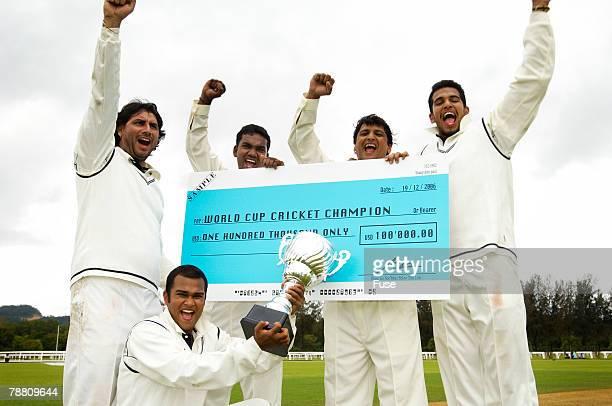 Cricket Players Celebrating