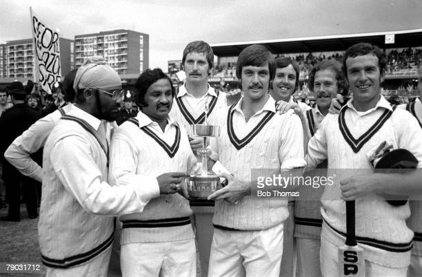 Cricket September 1976 Lords Cricket Ground London Gillette Cup Final Northamptonshire beat Lancashire Northamptonshire's Bishen Singh Bedi Mushtaq...