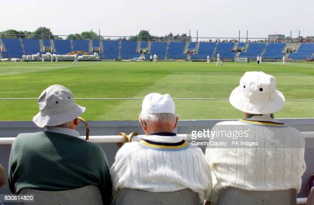 Cricket spectators watch on during Yorkshire's Division One CricInfo Championship game against Northamptonshire at Headingley Leeds The new West...