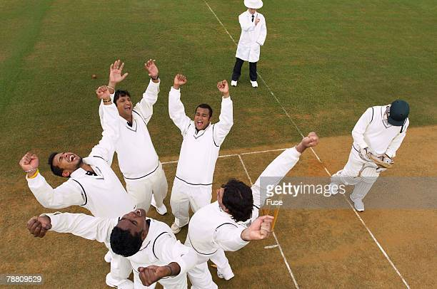 Cricket Team Celebrating