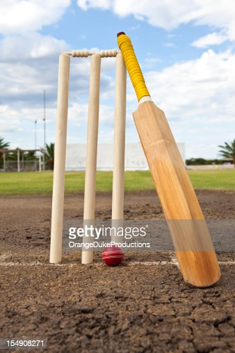 Cricket wickets,ball and bat
