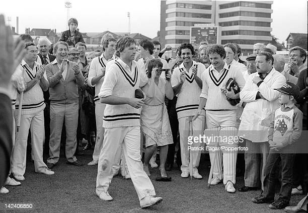 'Cricket World Cup 1983 Australia v Zimbabwe at Trent Bridge Duncan Fletcher goes to receive the Man of the Match award after defeating Australia by...