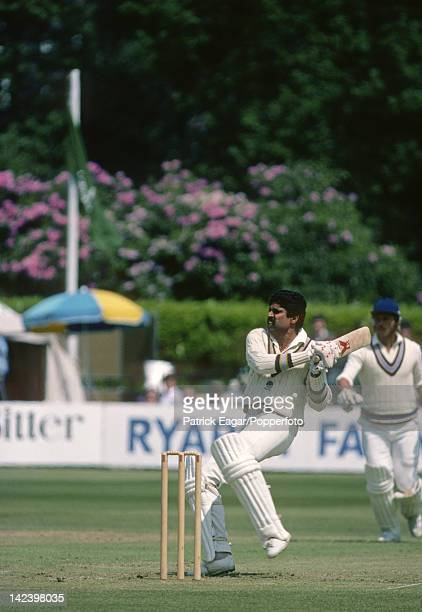 Cricket World Cup 1983 India v West Indies at Tunbridge Wells Kapil Dev E835773 photograph by Jan Traylen / Patrick Eagar