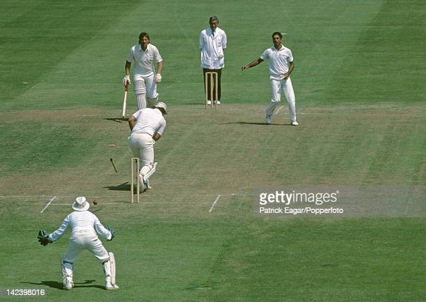 Cricket World Cup 1983 Mike Gatting bowled by Mohinder Amarnath for 18 E835374