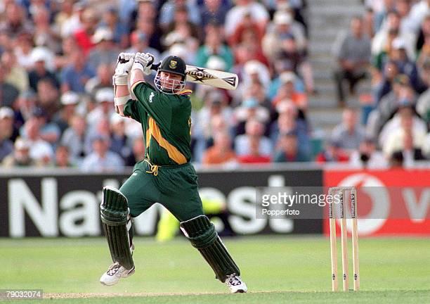 Cricket World Cup Semi Final Edgbaston 17th June Australia v South Africa Match Tied South Africa's Lance Klusener batting