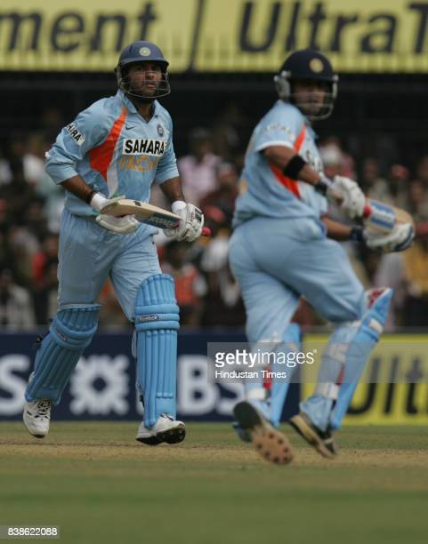 Cricket Yuvraj singh and Gautam Gambhir during India vs England 2nd ODI match at Indore on Monday