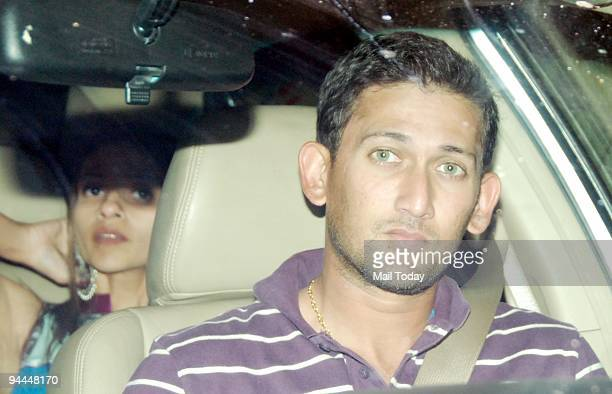 Cricketer Ajit Agarkar at an event in Mumbai on Friday December 11 2009