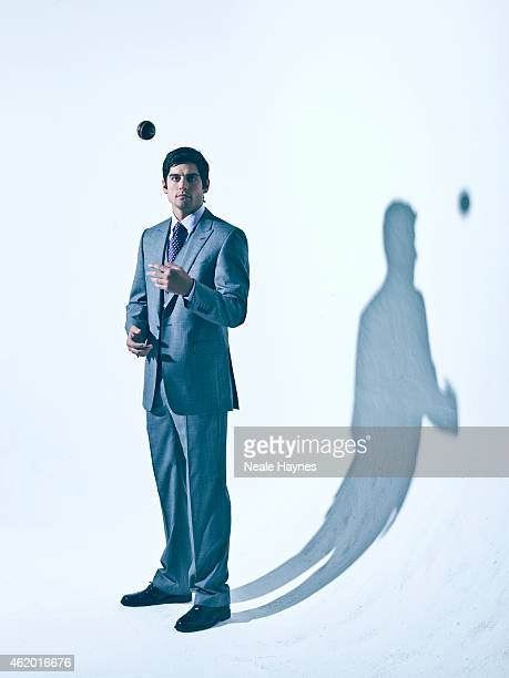 Cricketer Alastair Cook is photographed for Austin Reed clothing on November 14 2011 in London England