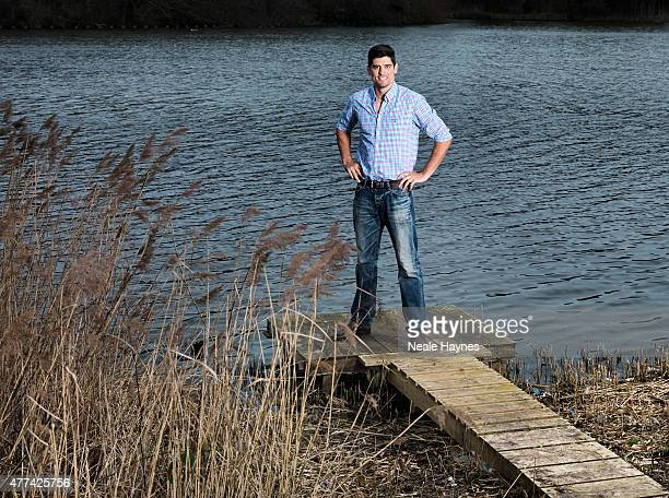 Cricketer Alastair Cook is photographed for Waitrose magazine on March 30 2015 in Chelmsford England