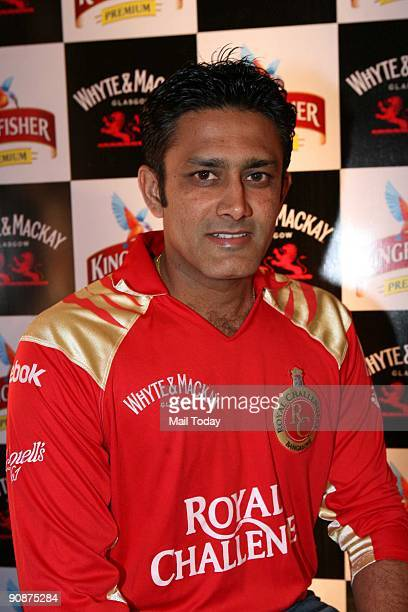 Cricketer Anil Kumble at a promotional event in New Delhi on Friday September 11 2009