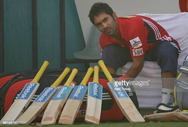 Cricketer Dinesh Karthik during a practice session of the Delhi Daredevils in New Delhi on Sunday March 28 2010