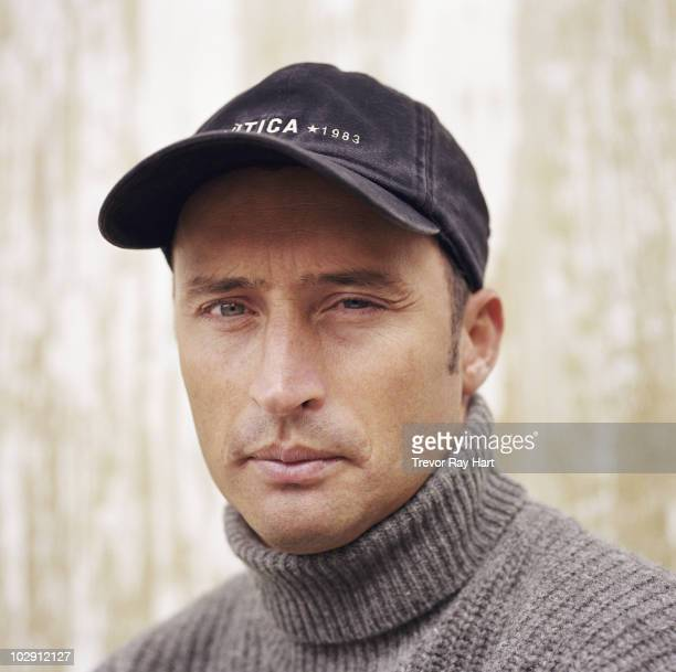 Cricketer Nasser Hussain poses for a portrait shoot in London UK