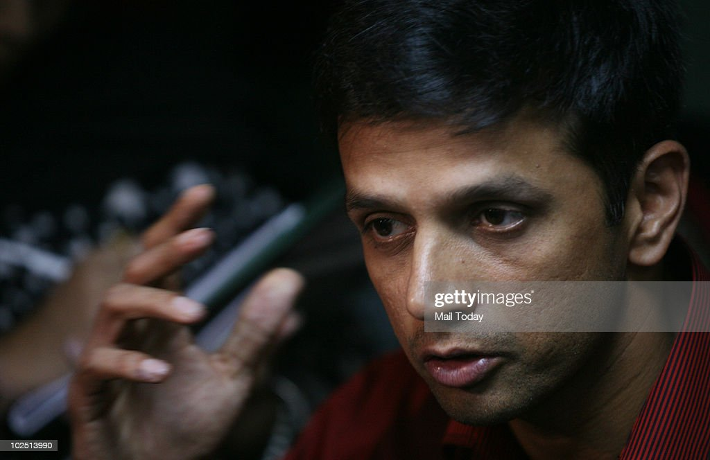 Cricketer <a gi-track='captionPersonalityLinkClicked' href=/galleries/search?phrase=Rahul+Dravid&family=editorial&specificpeople=211062 ng-click='$event.stopPropagation()'>Rahul Dravid</a> after receiving 'People of the Year' award during a felicitation function organised by Limca Book of Records in New Delhi on June 28, 2010.