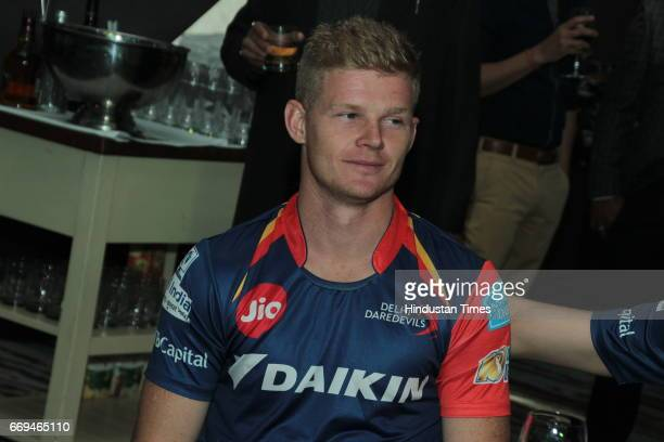 Cricketer Sam Billings at a party hosted by Daikin to celebrate the three years of togetherness with Delhi Daredevils team at Hotel Pullman Aerocity...