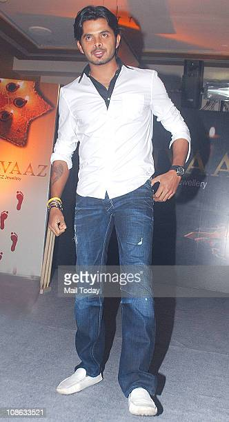 Cricketer Sreesanth during the promotion of Gitanjali store's 'Rivaaz' jewellery collection at Grand Hyatt in Mumbai
