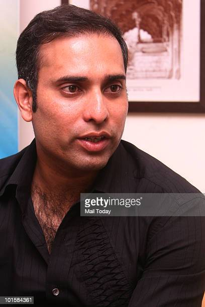 Cricketer VVS Laxman at the launch of an online gaming championship in New Delhi on June 2 2010